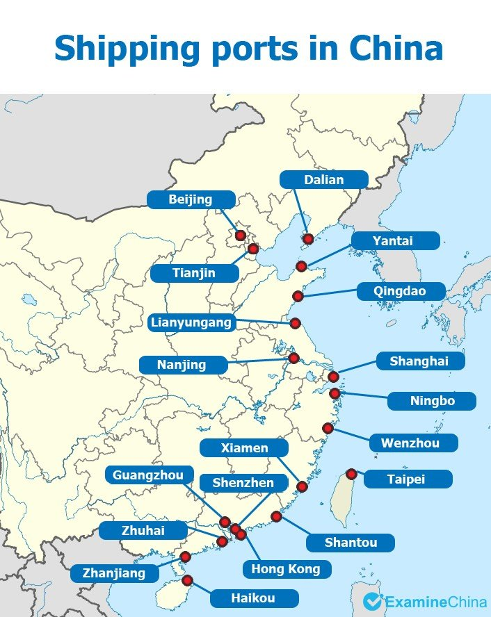 map of ports in china Top 9 Ports In China The Biggest Ports In China Information map of ports in china
