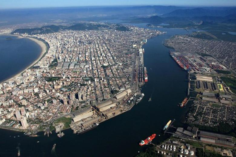 The largest seaports in South America